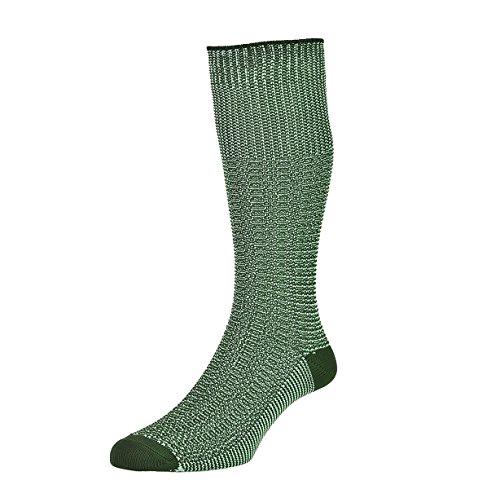 HJ Hall Herren Socken für den Alltag Kniestrumpf, Einfarbig Gr. Large, Grün - Lovatblau