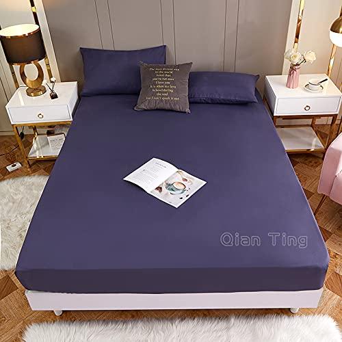 Lamcomt 1 funda de colchón de 100% poliéster sólido con cuatro esquinas con banda elástica para cama (funda de almohada de solicitud) (color: Yanxunzi, tamaño: fundas de almohada de 50 x 70 cm)