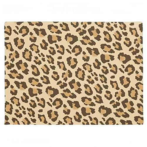 Alfombrilla de goma con estampado de manchas de leopardo y guepardo, felpudo de bienvenida con estampado de animales de África salvaje, alfombra lavable para entrada, decoración del hogar-16x24 inch