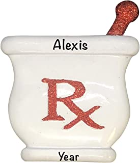 Pharmacist - RX Personalized Ornament - (Unique Christmas Tree Ornament - Classic Decor for A Holiday Party - Custom Decorations for Family Kids Baby Military Sports Or Pets)