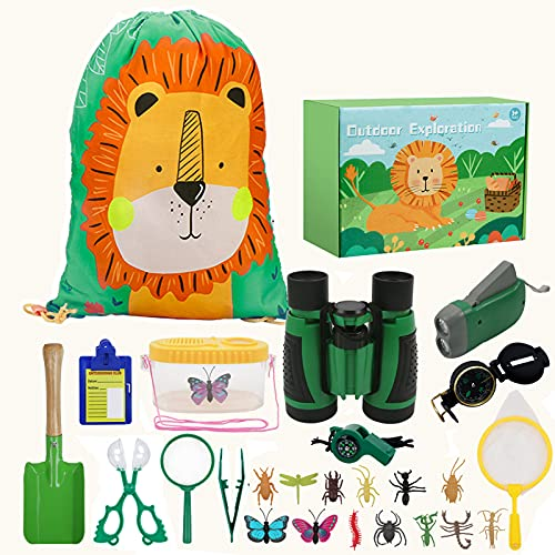 kramow Kinder Fernglas Spielzeug Set Draussen Forscherset Kit 27...