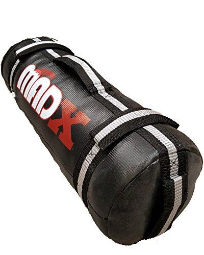 MADX poder arena moldeado Crossfit Powerbag paño entrenamiento saco negro...