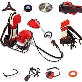 WOLLEN G317 Debroussailleuse thermique sac à dos 58cm3, 5HP, 3.5kW, 8 accessoires professionnels