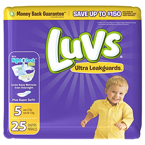 Luvs Ultra Leakguards Size 5 Diapers - 25 CT by Luvs