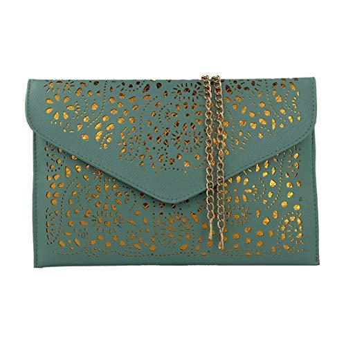 WuXingMeiLi bolsas para mujeres 2020 bag bolsos de mujer handbag clutch monederos feminina bolso niña bolso bandolera bolsos de cadena bandolera mujer vintage clutch bolsos de mano (light green)