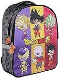 Clairefontaine 812822C - Un sac à dos 2 compartiments Dragon Ball Super 30x14x40cm, Gris