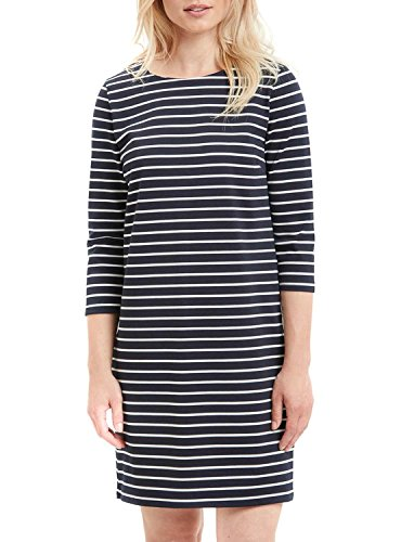 Vila Damen Kleid Vitinny New Dress, Blau (Total Eclipse Stripes: Snow White), XS