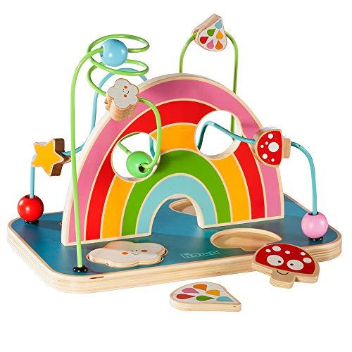 Howa Giocattoli Rotolamento Bead Maze Roller Coaster Giochi di Legno per Bambini con Puzzle 6006