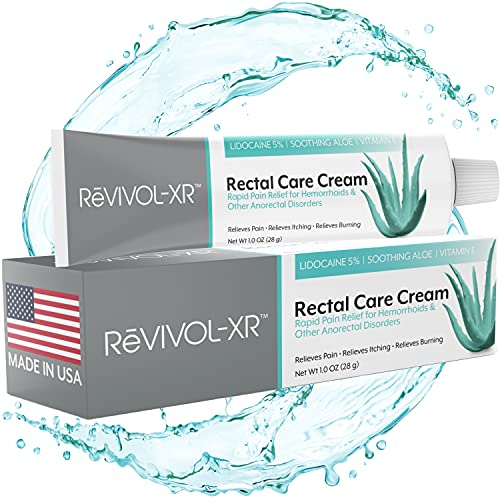 ReVIVOL-XR Hemorrhoid Cream, Maximum Pain Relief with 5% Lidocaine Numbing Cream and Powerful Antioxidants, Get Rapid Relief Hemorrhoid Treatment from Pain, Itch and Burn. Made in USA.