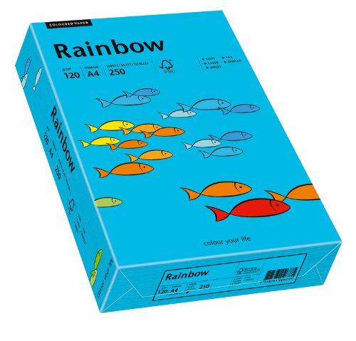 Papyrus 88042744 Drucker-/Kopierpapier farbig, Bastelpapier: Rainbow 120 g/m², A4 250 Blatt Buntpapier, matt, blau