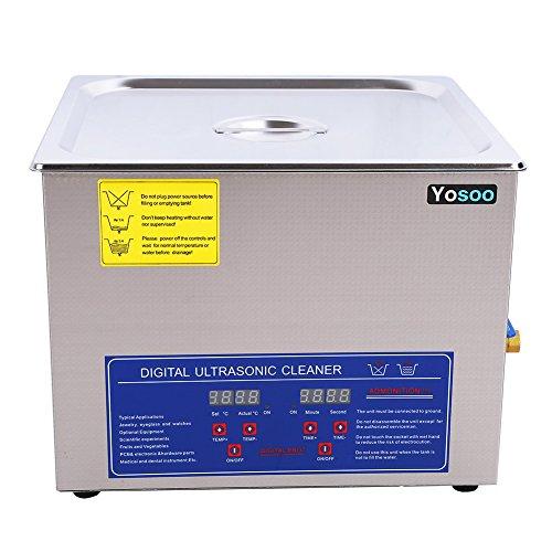Ultraschall-Reinigungsgerät mit 2, 3, 6, 10 oder 30 Litern Fassungsvermögen, Edelstahl, digitaler Timer für Schmuck/ Uhren/ Brillen/ Gebisse, 15L, 50