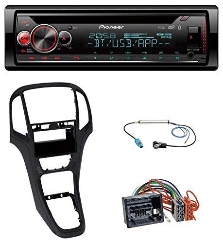 caraudio24 Pioneer DEH-S720DAB MP3 DAB CD Bluetooth USB Autoradio für Opel Astra J ab 2009 Perl schwarz