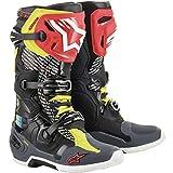 Alpinestars LE X Cactus Plant Flea Market Tech 10 Motocross Boot, Black/Red/Yellow, 11