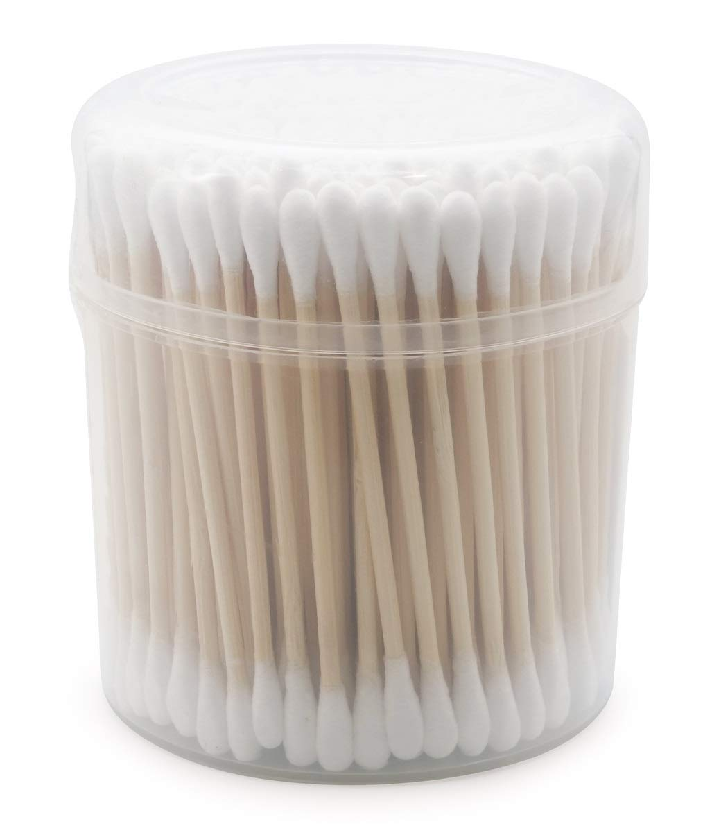 Popular popular 20 PACK Cheap mail order specialty store Wooden Cotton Swabs 600 - Count Biodegradable