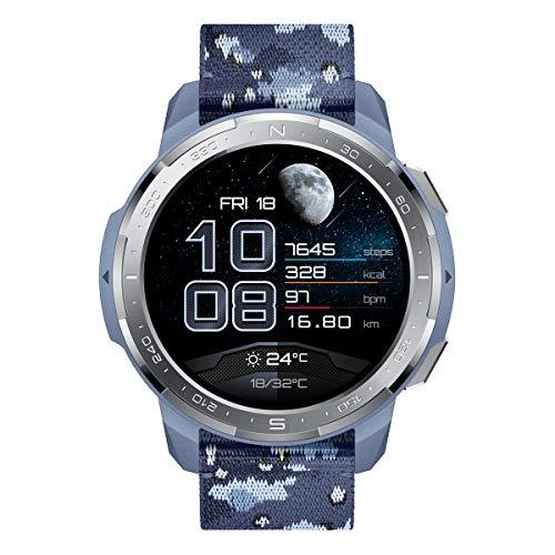 HONOR Watch GS Pro - Smartwatch GPS Multisport con Corpo Robusto e Resistente, 25-Giorni Batteria Durata, 1,39 Pollici AMOLED, IP68, Frequenza Cardiaca 24-ore, compatibile con Android e iOS (Blu)