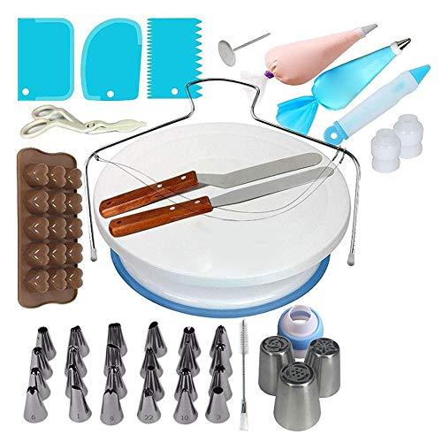 Quzheng - Juego de boquillas para repostería (1 juego), color como se muestra en la imagen, material: silicona + acero inoxidable, estilo opcional