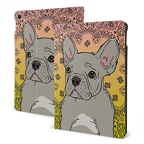 Frenchie Dog Case Fit iPad 8th Generation 2020 iPad 7th Gen 2019 Slim Protective Shell Auto Sleep Wake Cover 10.2 inch