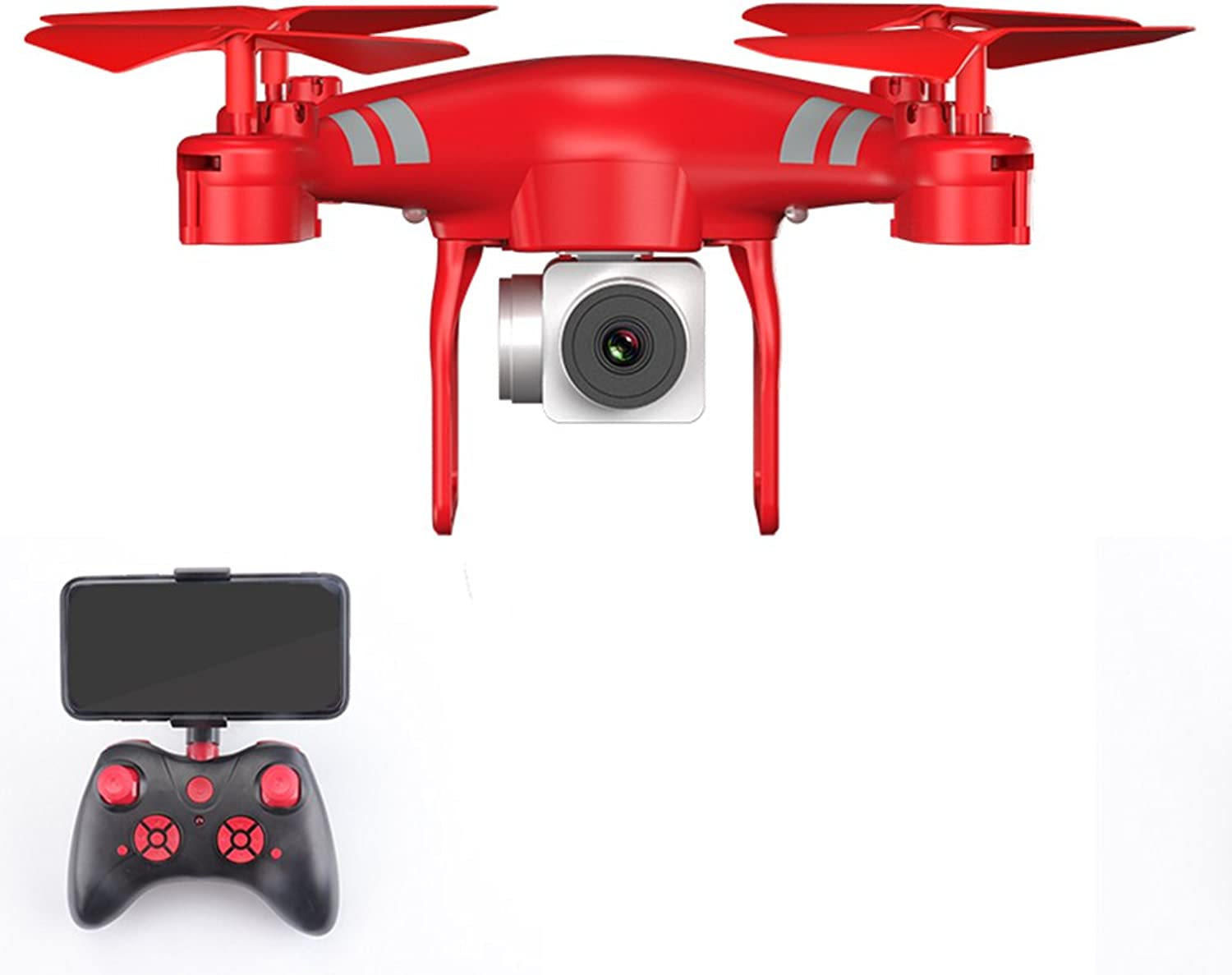 OYJJ 720P Camera LongLife Fouraxis Aircraft 2.4G4 to 6axis Remote Fixed Universal Joint FPV Drone Cool Toy  red