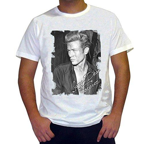 James Dean : T-Shirt,Cadeau,Homme Blanc, 7015220,Blanc, L,t Shirt Homme