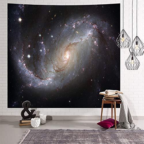 WERT Galaxy Cielo Estrellado Colgante de Pared Luna Noche Tapiz Hippie Retro decoración del hogar Yoga Alfombra de Playa tapices A10 200x180cm