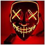 Photo de Eizur Halloween Masques, Masquerade Purge Film El Wire DJ Fête Festival Halloween Costume LED Masque - Plusieurs Couleurs