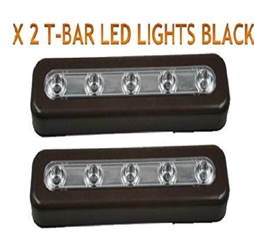 Stick On LED Lampes Cabinets-closets-under Stair-bedroom-car/camping-car Vacances Accessoires parties LED caravanes escaliers 2 Noir