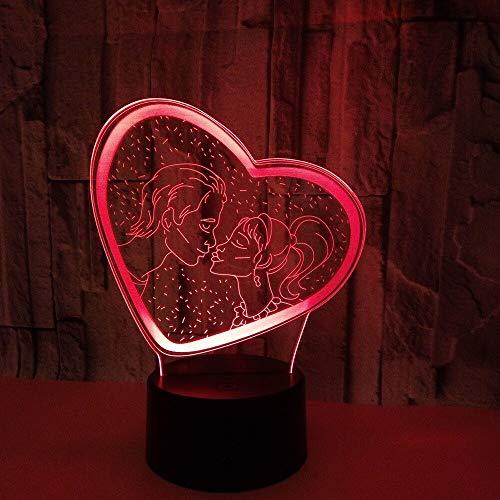 jiushixw 3D acryl nachtlampje met afstandsbediening kleurverandering tafellamp mannelijk bodybuilding visuele lamp fietsstallatie IKEA tafellamp glas