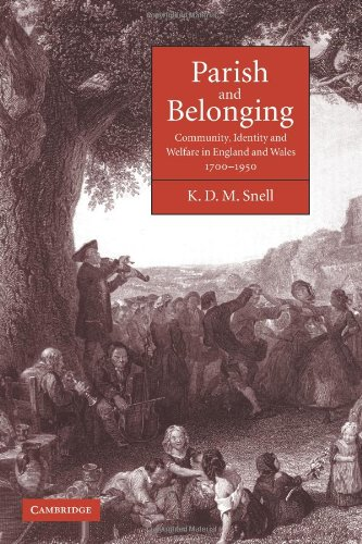 Parish and Belonging: Community, Identity and Welfare in England and Wales, 1700–1950