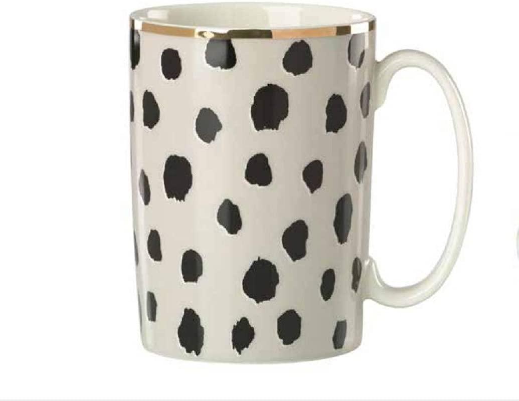 Kate Spade Boudoir Chic Flamingo Dot Mug 12 Ounce