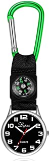 Dilwe Sports Watch, Multi Functional Compass Watch with a Carabiner Clip On Watch Perfect for Camping Hiking Survival Gear