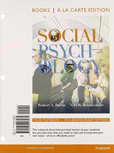 Social Psychology (Books a la Carte)