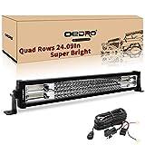 oEdRo LED Light Bar 22 Inch 520W 36400LM Quad-Rows Spot...