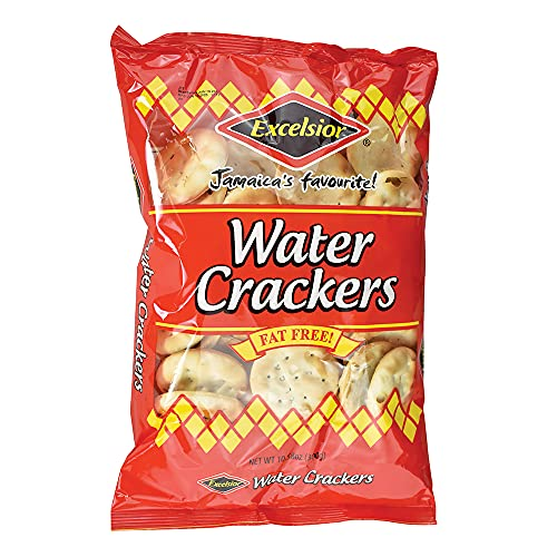 Excelsior Water Crackers Jamaica's Favorite FAT FREE (Pack of 3 at 10.58oz Each)