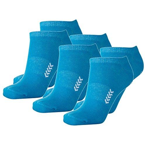 Hummel 6 Paar Sneaker Socken für Damen & Herren - viele Farben - Größen 36-48 (46-48 (14), Atomic Blue/White (8367))