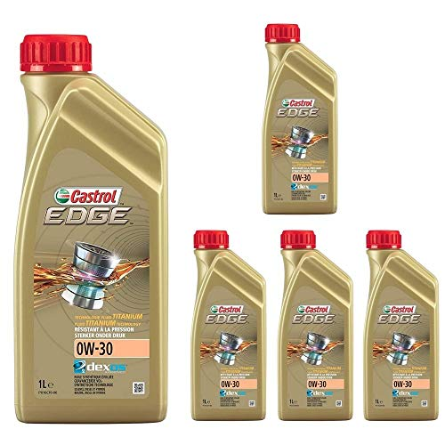 BOXLUM CASTROL Olio Motore Edge 0W30 Confezione da 5 Flaconi da Litri 1