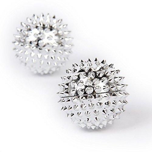 2 Magnetische Akupressurkugeln - Silber klein