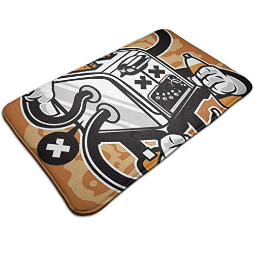Hipiyoled Toast Machine Soft Cozy Classic Non-Slip Doormat Entrance Funny Floor Mat Coir Rug 19.7x31.5In