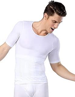 Roacoa Upgraded Men's Seamless Slimming Body Shaper Vest Abdomen Slim Shirt Compression Tank Shaperwear