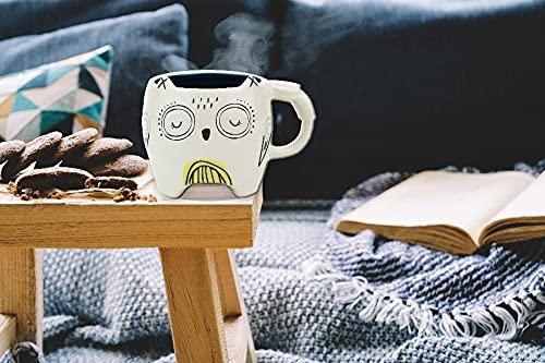 Winkee Taza de café Pet Art Mug (búho)
