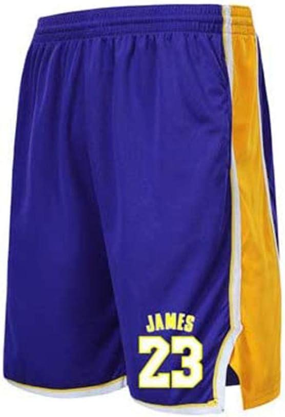 YZDD Pantalones Cortos Deportivos Sueltos para Hombres Pantalones Cortos de Entrenamiento Lakers # 23 James Basketball Correr Transpirables y de Secado R/ápido Que Absorben el Sudor