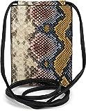 styleBREAKER Bolso de Bandolera para el móvil de Mujer en óptica de Piel de Serpiente, Bolso de Hombro, Bolso de Mano para el móvil, minibolso 02012306, Color:Multicolor