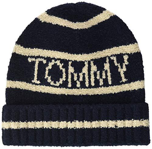 Tommy Hilfiger Fluffy Knit Beanie Gorro/Sombrero, Capitán del Cielo, OS para Mujer