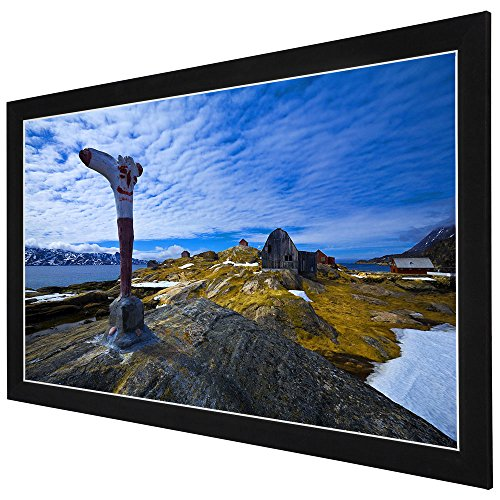 Yescom 100' Diagonal 16:9 HD Fixed Frame Projector Screen 87'x49' Viewing Area w/ 3' Aluminum White