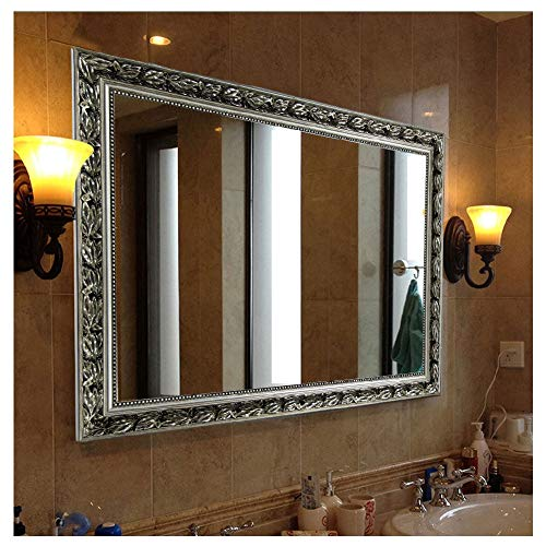 "Hans&Alice Bathroom Mirrors for Wall (Silver, 38""x26"")"