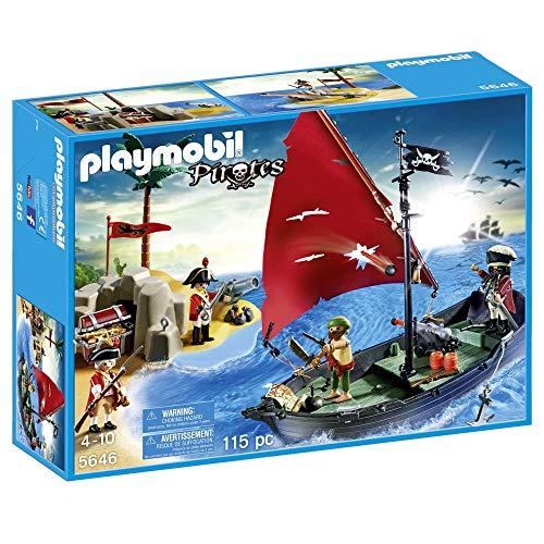 Playmobil Piratas 5646  Isla y Barco