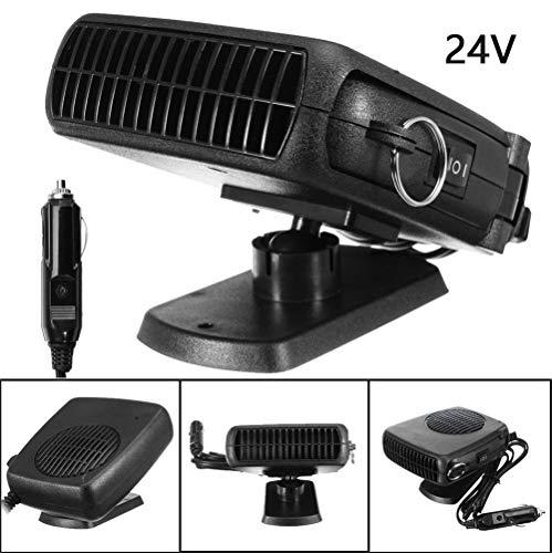 Pixier 24V elektrische autoverwarming, draagbare krachtige ontdooiingsfogger voor het snel opwarmen en afkoelen van de ventilator, wordt gebruikt voor de autovoorruitverwarming zwart 150 W