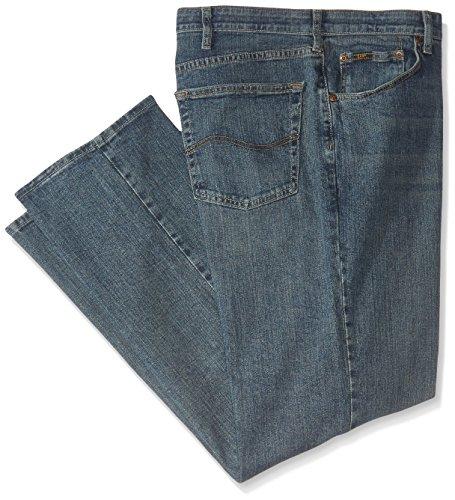 Lee Men's Big-Tall Premium Select Custom Fit Relaxed Straight Leg Jean, Serpent, 54W x 30L