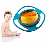 FunRun Plato infantil antiderrames, Gyro 360 giratorio para evitar la comida, Gyro Bowl Para Niños