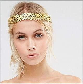 gold leaf headband greek goddess