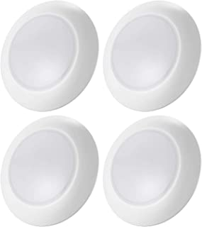 TORCHSTAR Dimmable LED Disk Light Flush Mount Recessed Retrofit Ceiling Lights, 15W (85W Eqv.), 3000K Warm White, Energy Star, Installs into 3/4 Inch J-Box & 5/6 Inch Recessed Can, Pack of 4